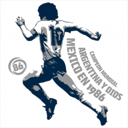 Diego Maradona, WC 1986, T-shirt