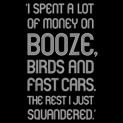 """Booze, birds and fast cars"", T-Shirt"