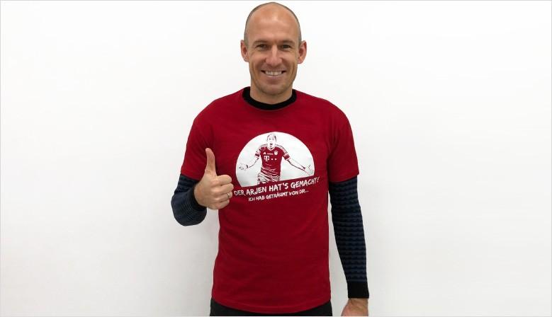 Arjen-Robben T-Shirt von SpielRaum